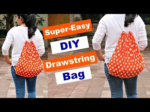 DIY: Super-Easy Drawstring Bag from Leftover Fabric | Step-by-Step Tutorial | Slick and Natty