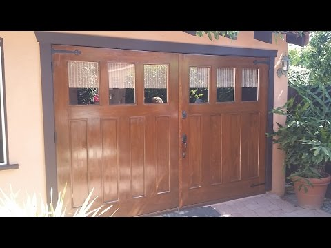 Build carriage doors for garage with Festool Domino XL