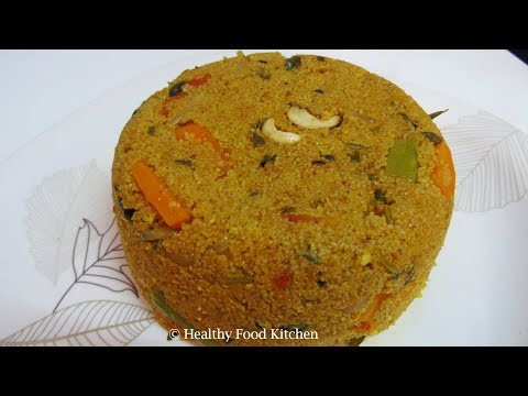 Wheat Rava Biryani Recipe - Wheat Rava Masala Khichdi Recipe - Wheat Rava Upma Recipe