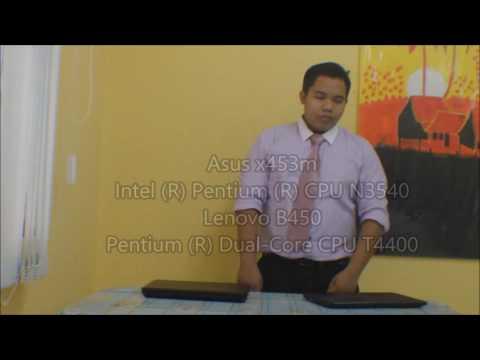 comparison between Laptop ASUS X453M and LENOVO B450 (MOOC)