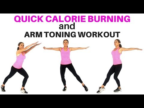 ARM EXERCISES FOR WOMEN AND QUICK CALORIE BURNING WORKOUT - EASY HOME FITNESS FOR WEIGHT LOSS