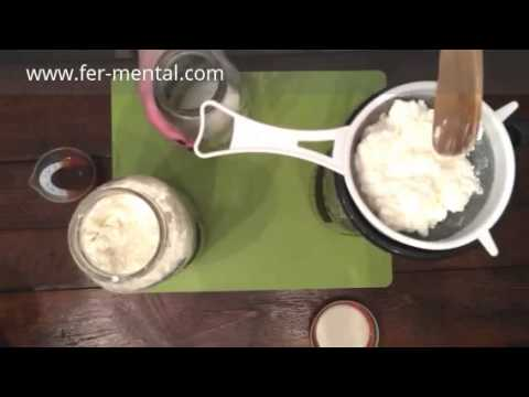 Milk Kefir Part 2 - Separating the Grains, Cream, & Some of the Whey