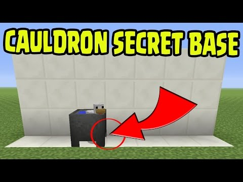 Minecraft PS3, PS4, Xbox360, Wii U - CAULDRON SECRET BASE GUIDE