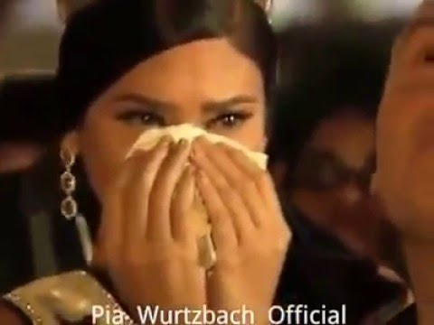 Pia Wurtzbach - Miss Universe 2015 tears of joy during homecoming