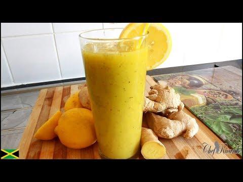 Fresh kiwi and mango smoothies recipe From Chef Ricardo Juice Bar !!