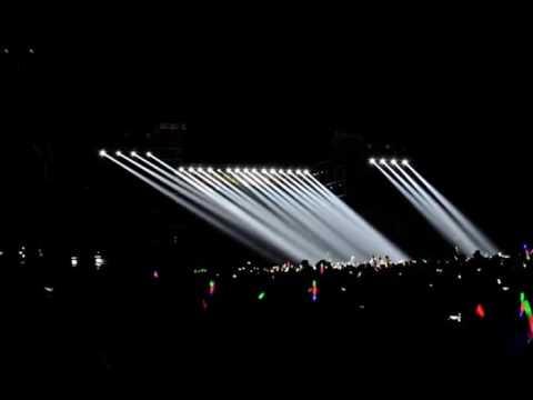 outdoor concert lighting show