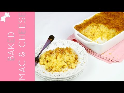 How To Make THE BEST Baked Mac and Cheese with Breadcrumb Topping // Lindsay Ann Bakes