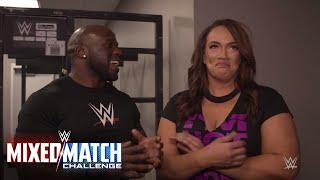 Apollo Crews & Nia Jax do a cheer for their WWE MMC charity partner Susan G. Komen