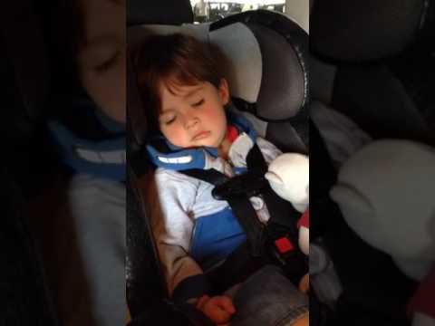 Snoring in car seat