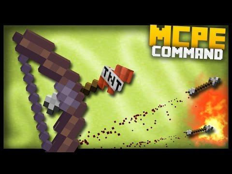 MCPE - How to make Op Arrows with command blocks!