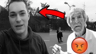 60 YEAR OLD MAN FIGHTS ME! CAUGHT ON CAMERA