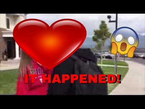 FIRST KISS! *caught on camera*