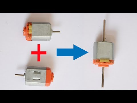 How to make double Shaft Dc Motor At  Home