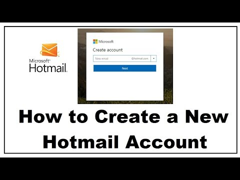 How to Create a Hotmail Account 2018