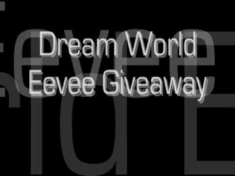 Dream World Eevee Giveaway Pokemon Black and White