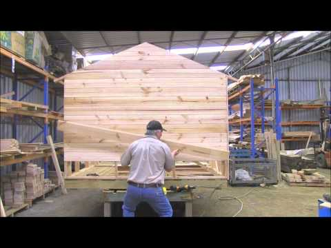 How to build  a cubby house Cladding Part 4.