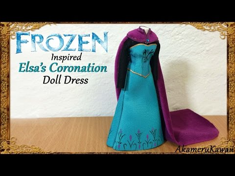 Elsa (Frozen) inspired Doll Dress - Winter Fabric Tutorial