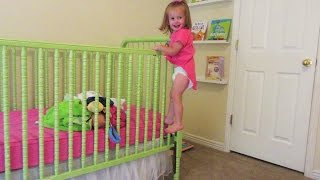 BABY climbs out of crib!!!