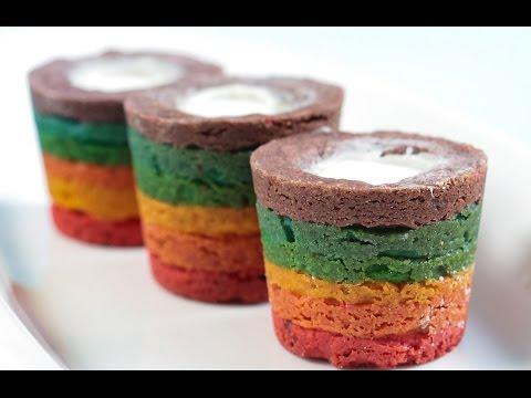 Rainbow Cookie Shot Glass Tutorial