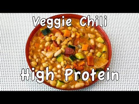 High Protein & High Fiber Delicious Veggie Chili in under 1 hour