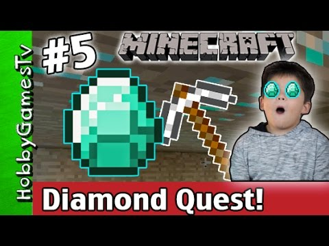 Minecraft DIAMOND QUEST Digging Finds Gold + Red Stone Xbox 360 HobbyGamesTV
