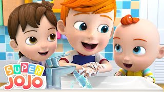 Wash Your Hands Song | Good Habits For Kids + More Nursery Rhymes & Kids Songs - Super JoJo