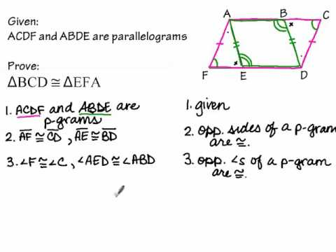 Proofs about Parallelograms part 2
