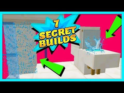 7 SECRET THINGS YOU CAN BUILD IN MINECRAFT (Working Toilet, working shower etc)