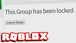 ROBLOX DELETED AND BANNED MY GROUP