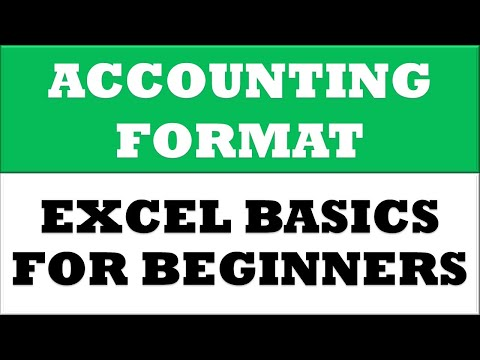 How to Change Currency format to Accounting format in MS Excel 2016