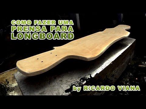 Como Fazer Shape Longboard (PRENSA) - Build longboard shape concrete mold