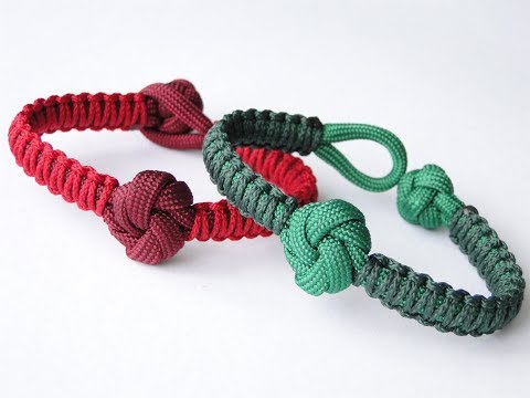 How to Make a Mandala Knot and Loop Closure/Micro Cord Cobra Weave Paracord Bracelet