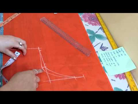 4 Tucks blouse cutting // Simple 40 size blouse cutting