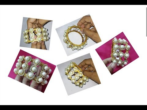 Silk thread bangle | Making with pearl beads