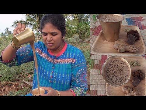 MASALA TEA RECIPE | MASALA CHAI | HEALTHY VILLAGE FOOD