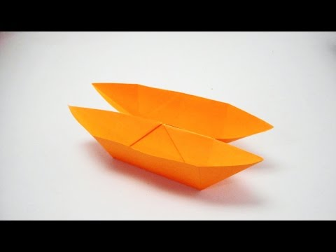 How to make a Double Boat with paper