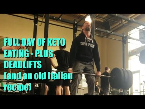Full Day of Keto Eating & a Deadlift/Pull Workout: Scharole and Sausage