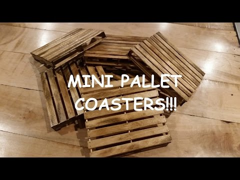 Mini Pallet Coasters Realistic look with distressed finish!!