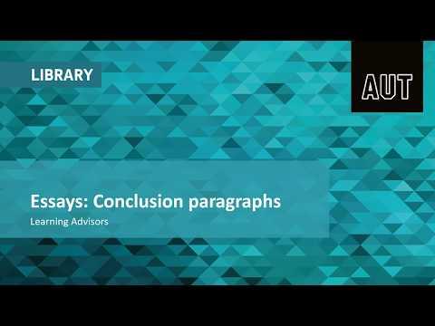 Essays: Conclusion paragraphs