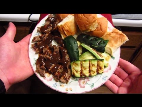 Foreman Grill Recipe: Grilled Steak and Zucchini with Rolls