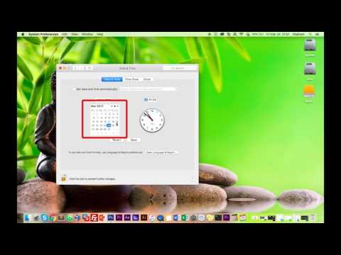 How to set date and time on Macbook - Mac OS X