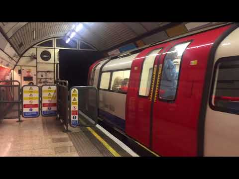 London Underground 1996 Stock Jubilee Line Departing Baker Street for Stanmore