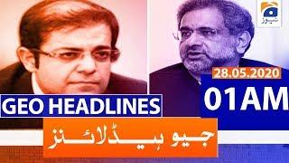 Geo Headlines 01 AM | 28th May 2020