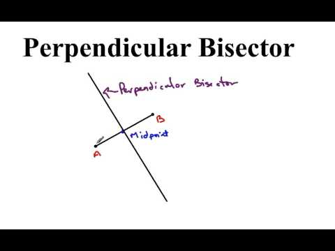 Find Equation of Perpendicular Bisector