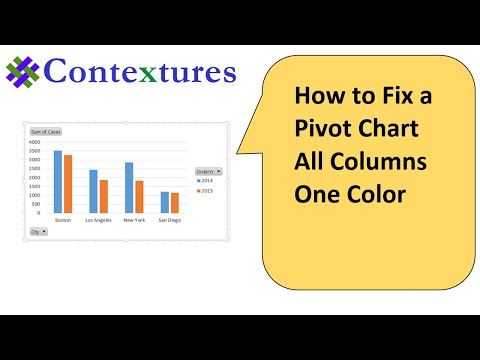 How to Fix a Pivot Chart All Columns One Color