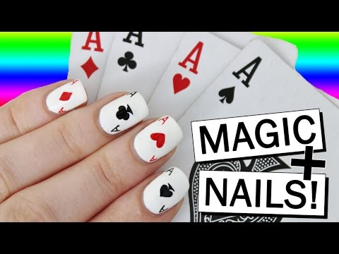 MAGIC & PLAYING CARD NAIL ART | Collab with Alfie Whattam