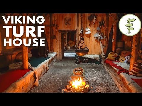 Amazing Viking Turf House Tour - Stunning Green Building!