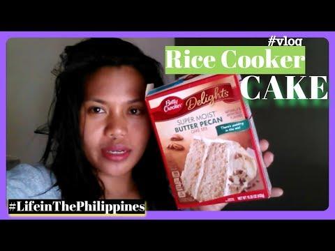 MAKING CAKE IN A RICE COOKER #LIFEINTHEPHILIPPINES-| Helmz Jordan