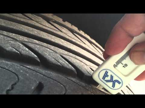 What is the recommended Tyre tread depth