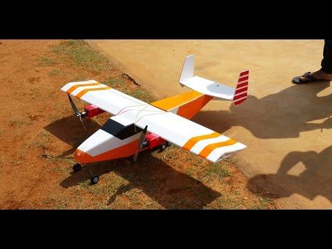 RC Scratchbuilt Cargo Plane Twin Engine/Prop - Stable 1.2m